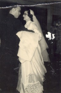 Ben and Connie at their wedding