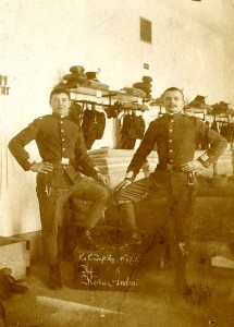 Andreo (Andrew) Kollar (right) with another soldier, 1914