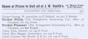 1891 Youngstown City Directory listing