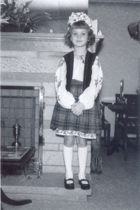 Dinah Fedyna in Ukrainian costume for a cultural day at West Elementary School in Youngstown, 1966.