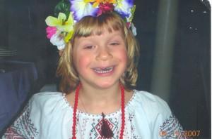 Natalia Novicky in her traditional Ukrainian costume.